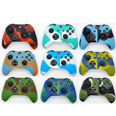 Camouflage Silicone Rubber Case Cover Skin for Xbox One / S / X Controller