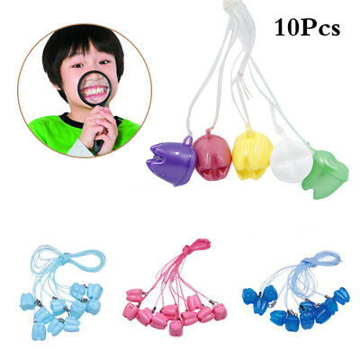 10PCS Cute Tooth Fairy Teeth Savers Box Container Keepsake Necklace Gift