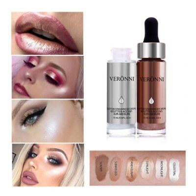 6 Colors Liquid Highlighter Make up Contouring Face Brighten Bronzer Cream BY