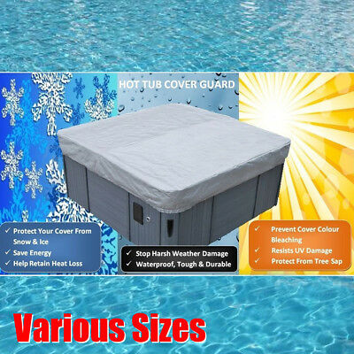 36 Sizes Universal Tub Cover All-Weather Protector-Spa Cover Harsh Weather Guard