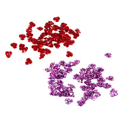 100 Pieces Bulk 8mm Anodized Aluminum Rose Flower Spacer Beads Findings