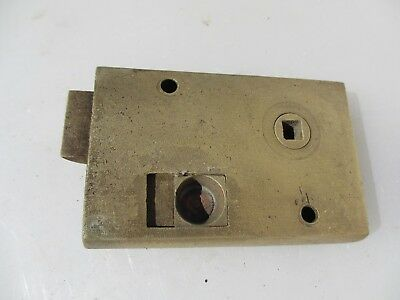 Georgian Brass Bathroom Door Lock Antique Bolt Victorian Old WC Vintage