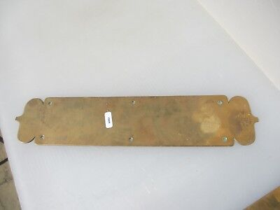 Antique Brass Finger Plate Push Door Handle Art Nouveau Vintage 14""