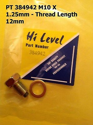 Oil Drain Bolt Magnetic 10mm x 1.25mm,Thread Length 12mm (384942)