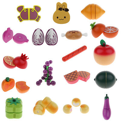 Mini Dollhouse Wooden Magnet Fruits Kitchen Food Child/Toddler Cooking Role Play