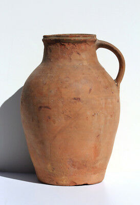 Early European Terracotta Pitcher Pot Antique Vintage Turkey