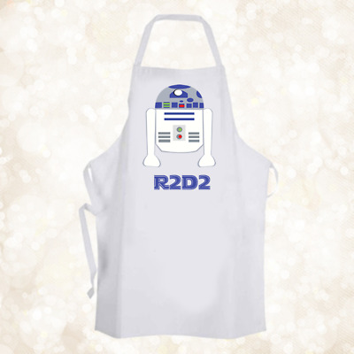 Personalised Cute R2D2 Baking Cooking Apron Ideal Birthday Party Gift