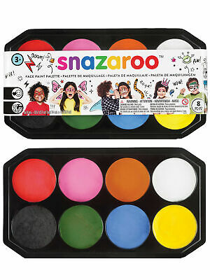Snazaroo 18ml Palette Face Paint Kit Fancy Dress Stage Make Up Painting