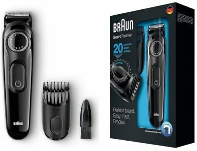 Braun BT3020 Men's Beard and Hair Trimmer, Cordless and Rechargeable **NEW**