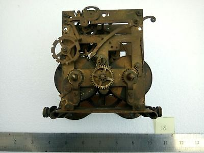 Antique Vintage Brass Clock Movement for Spares & Repairs