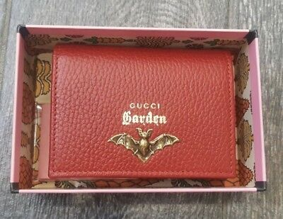 c53cd1d14c2a4f GUCCI Garden Florence Italy Red Gold Moth Wallet