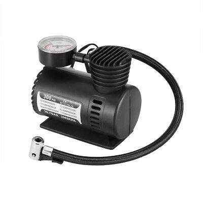 Air Compressor Pump 12V Compact 300 Psi Tyre Inflator Bicycle Ball Bike Van Car