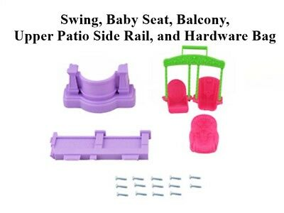 New Fisher Price Loving Family Dollhouse  Swing, Baby Seat, Balcony, Upper Patio