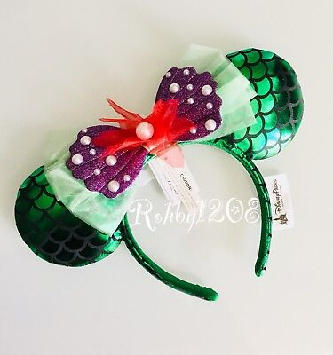 Disney Parks The Little Mermaid Ariel Minnie Mouse Ears Headband BNWT