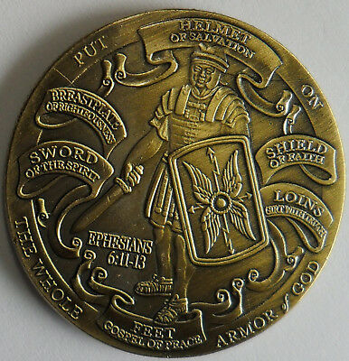 Armor of God High Relief Christian Challenge Coin Ephesians 6:10-12