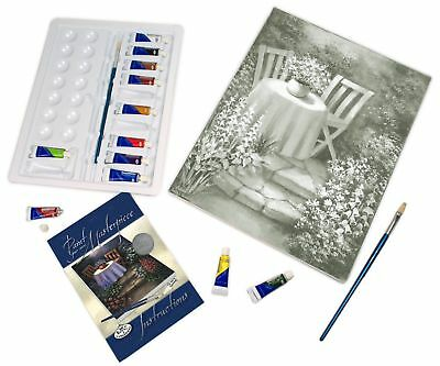 Deluxe Large Canvas Pictures Like Paint By Numbers Artist Acrylic Painting Kits