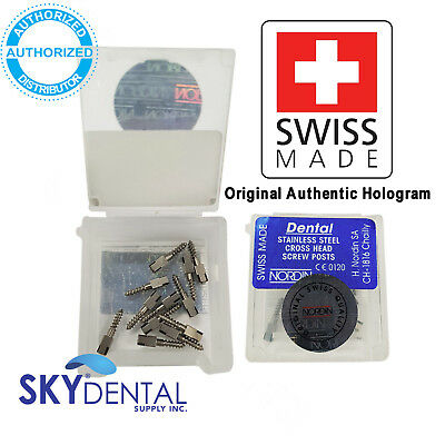 All Sizes Stainless Steel NORDIN Dental Screw Post Refill of Kit 12 posts