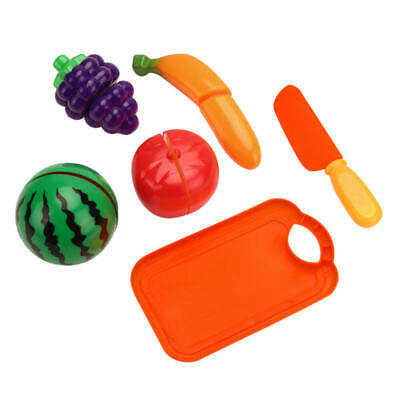 Kid Child Kitchen Fruit Vegetable Food Pretend Role Play Cutting Set Toy Gift