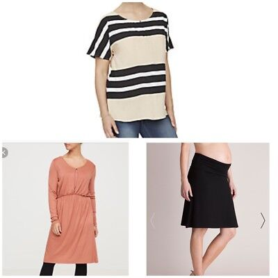 Mamalicious Bundle Maternity Dress Top Skirt Size M-L Free Post New With Tags