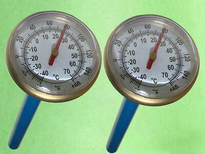 "Lot of Pocket Dual Scale Thermometers 1.37""  for Food & HVAC. TD-138"