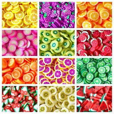 10g Kawaii FAKE Mini Fruits Fimo Clay Slices Decoden Sprinkles Slime CRAFTS USE