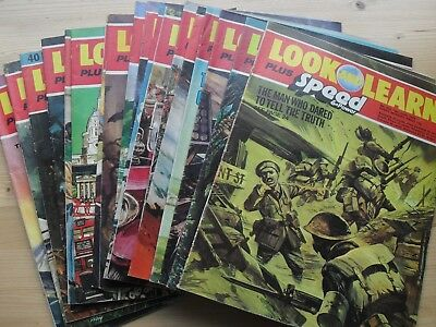 Bundle 18 Look and Learn plus Speed and Power Magazines 1976