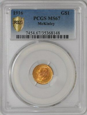 1916$ Gold McKinley MS67 Secure Plus PCGS