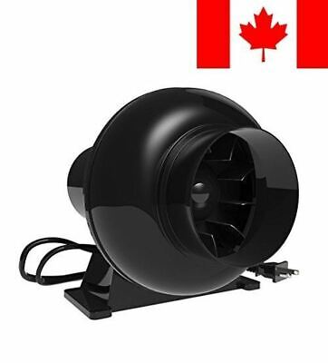Growneer 4 Inch 195 CFM Inline Duct Fan, HVAC Mixed Flow Energy Efficient Blo...