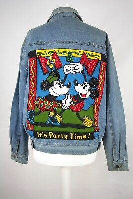 Vintage Original Mickey & Co. DonnKenny Mickey Mouse Denim Jacket M