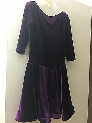 Velour ballroom dress for 8-10 years old girl
