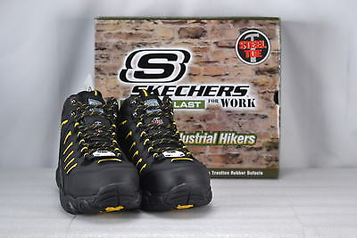 Men's Skechers Blais-Bixford Work or Hiking Boots Black