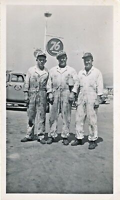 1938 Mechanics in Overalls, Hummel Family, 76 Gas Station, Wapato, Oregon Photo