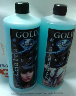 Original Brazilian Professional COLD WAX / CERA FRIA Kit 2000 ML Gold Diamond.-