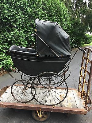 Antique Baby Carriage Buggy Stroller Stage Coach Construction Eli Whitney Family