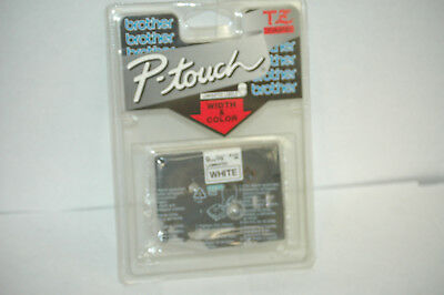 "Brother P-Touch TZ221 TZ-221, 3/8"" 9MM Black Print on White Tape"