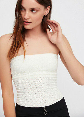 33a23430ee NEW Free People Intimately Seamless Honey Textured Tube Ivory Sz XS S-M L   47.88