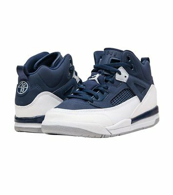Kids (PS) Air Jordan Spiz'ike Midnight Navy/Metallic Silver 317700-406