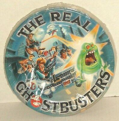 Hallmark THE REAL GHOSTBUSTERS cartoon 8 PAPER PARTY PLATES 1986 MINT SEALED