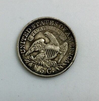 1832   Capped Bust Half Dime  Plugged 8 in Date  Collectors Coin Light Cleaned