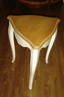 Ethan Allen Country French Painted  & Stained Triangular End Table