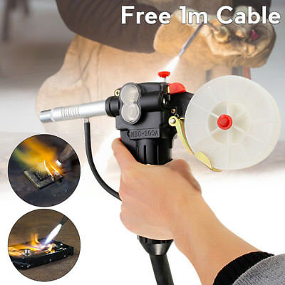 Cable Gun Pull Welding Aluminum Spool Mig Torch 100cm 24v Diy Durable Feeder