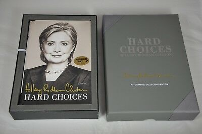 Hillary Clinton SIGNED Hard Choices Book 1st Ed. Autographed w/ Leather Box #961
