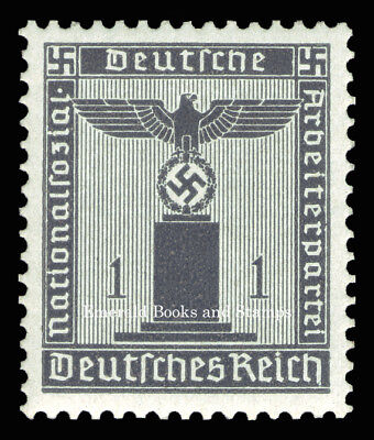 EBS Germany 1942 1 Pfennig Nazi Party Official Dienstmarke Michel 155 MNH**