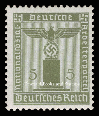 EBS Germany 1942 5 Pfennig Nazi Party Official Dienstmarke Michel 158 MNH**