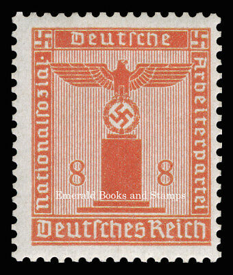 EBS Germany 1942 8 Pfennig Nazi Party Official Dienstmarke Michel 160 MNH**