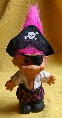 Russ Vintage Troll Doll Pirate 1980s Pink Hair