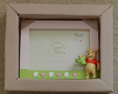 """4 x Winnie The Pooh PHOTO FRAME - Pink - 6"""" x 4"""" - New Disney Loved by Nature"""