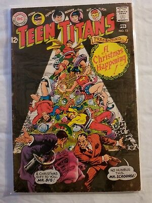 DC Silver Age Comic Book Teen Titans Issue #13 (1968) Holiday Issue