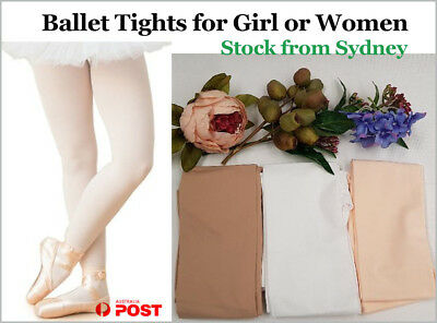 Footed Ballet Tights Girls or Women Dance Stockings 4 Sizes -Stock From Syndey
