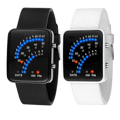 NEW Fashion Men Womens Watches Silicone Band Digital LED Sport Wrist Watch Gift